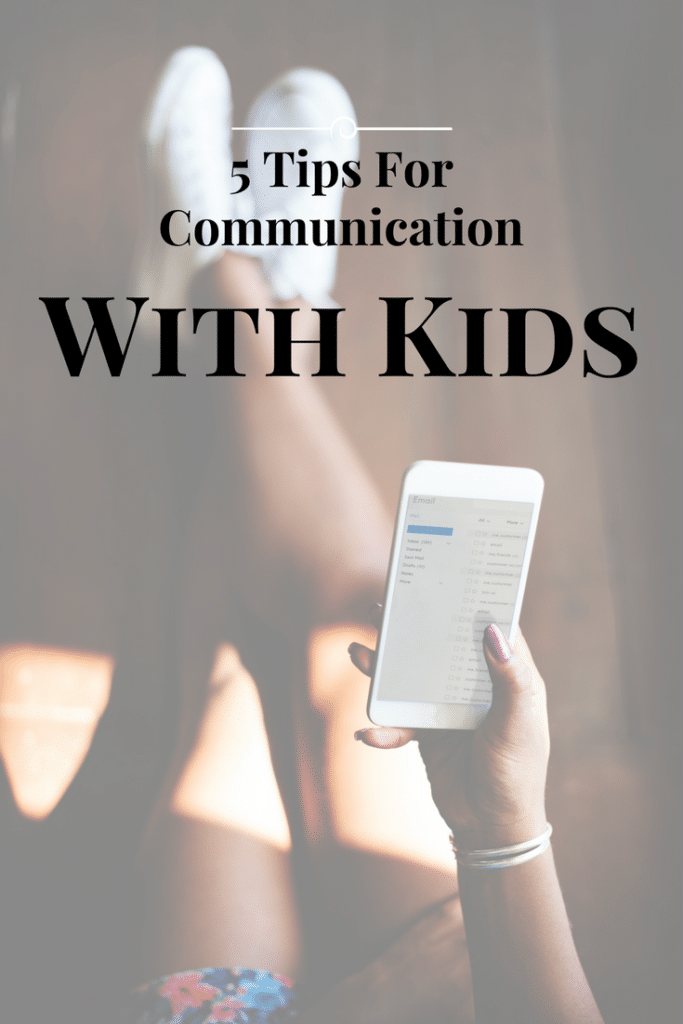 5 Tips for Communications Between Parent and Child