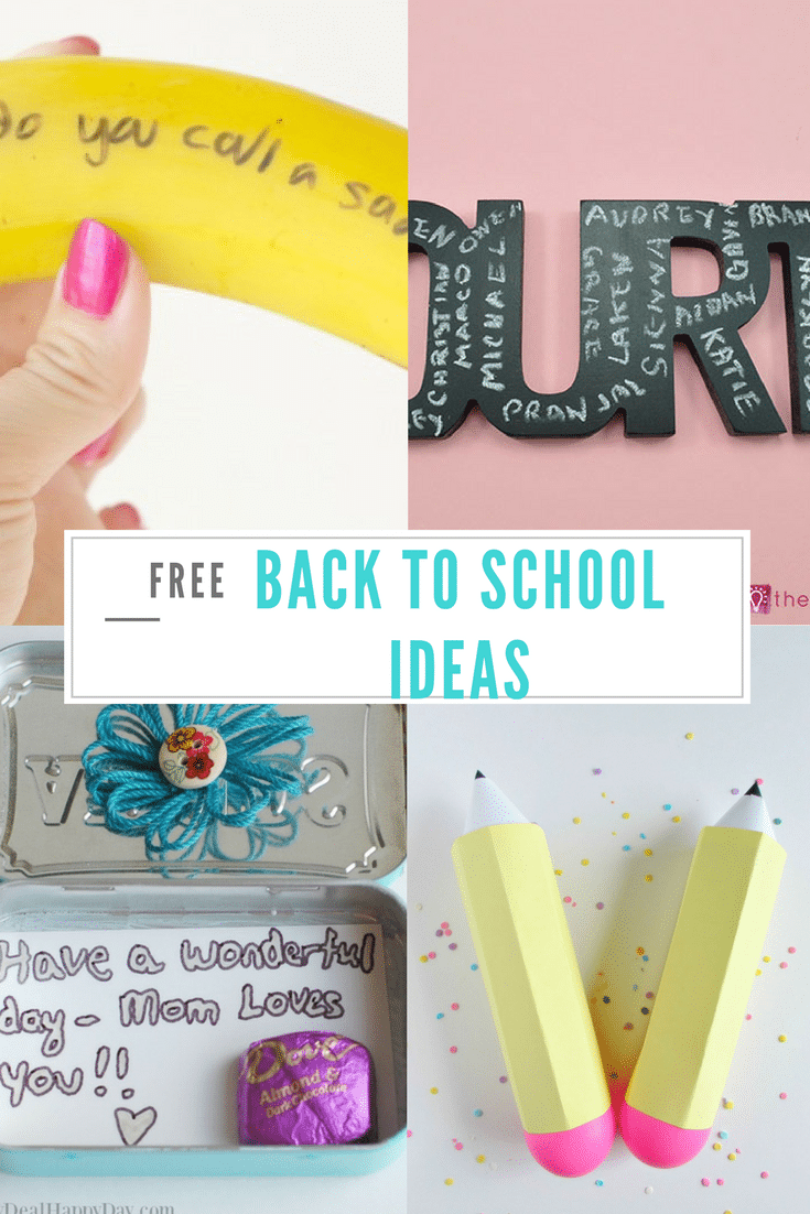 10 back to school themed projects, lunch box ideas and free printables for parents of all ages. Have fun with these ideas in prep for back to school.