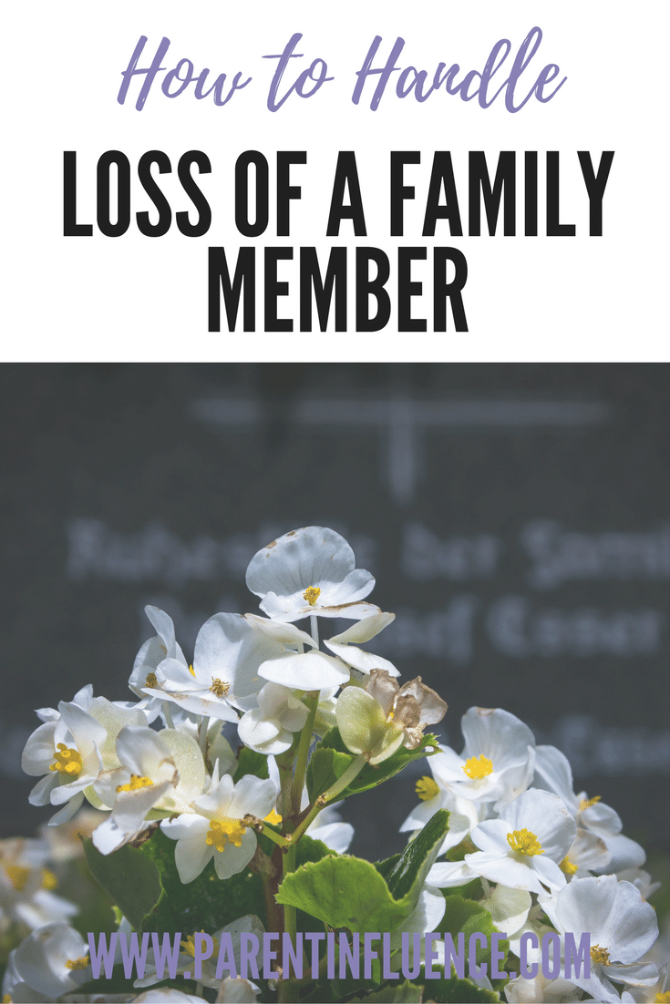 Tips on how to help kids through the death of a family member. Losing a family member is hard for everyone. Here's how to help kids through it.
