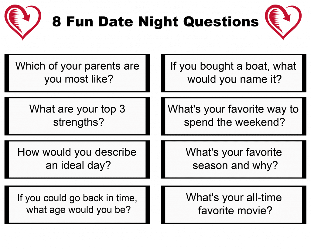 8 Fun Date Night at Home Questions White