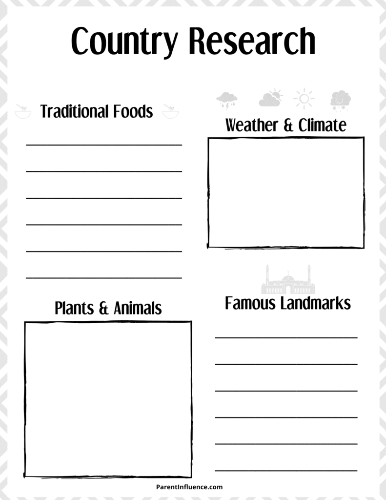 free social studies printable homesschool